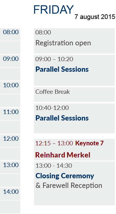 EAPL 2015 Timetable Friday
