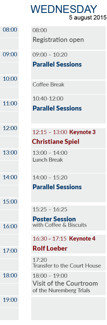 EAPL 2015 Timetable Wednesday